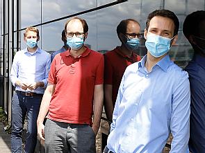 Prof. Dr. Florian Klein, Dr. Matthias Zehner und Dr. Christoph Kreer (v.l.), Foto: Dorothea Hensen