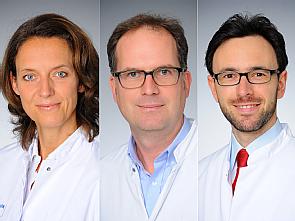 Prof. Dr. Christiane Bruns, Prof. Dr. Matthias Fischer und Dr. Ron Jachimowicz, Fotos: Michael Wodak