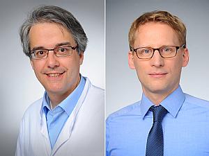 Prof. Dr. Bernhard Schermer und Univ.-Prof. Dr. Florian Klein (v.l.), Foto: Michael Wodak