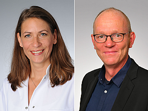 Prof. Dr. Elke Kalbe und Prof. Dr. Sascha Köpke, Fotos: Michael Wodak