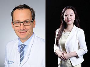 Dr. Thorsten Persigehl und Prof. Huimao Zhang (v.l.), Fotos: Michael Wodak/Shuo Wang