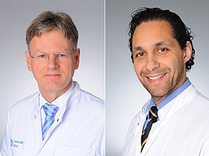 Prof. Dr. Dirk Stippel und Priv.-Doz. Dr. Roger Wahba (v.l.), Fotos: Michael Wodak