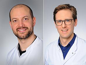 v.l. Univ.-Prof. Dr. Roman-Ulrich Müller und Priv.-Doz. Dr. Henning Hagmann, Foto: Michael Wodak