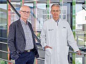 v.l. Prof. Dr. Reinhard Büttner und Prof. Dr. Jürgen Wolf, Foto: Michael Wodak