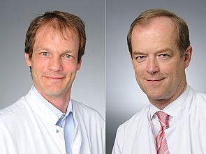 v.l. Dr. Felix Kolibay und Univ.-Prof. Dr. Michael Hallek, Foto: Michael Wodak
