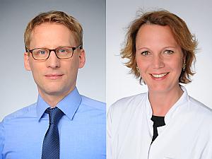 Prof. Dr. Florian Klein und Prof. Dr. Clara Lehmann, Foto: Michael Wodak