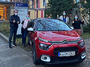 Stephan Lützenkirchen, Dr. Carola Bartels-Dickescheid, Nicole Schengel und Laura Jäckels (v.l.), Foto: Uniklinik Köln