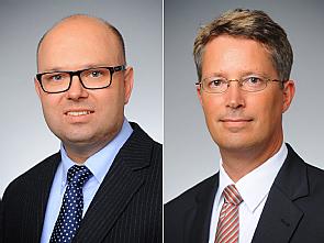 Priv.-Doz. Dr. Rafael Grajewski und Prof. Dr. Claus Cursiefen (v.l.), Fotos: Michael Wodak