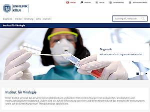 Neue responsive Website des Instituts für Virologie, Foto: Uniklinik Köln