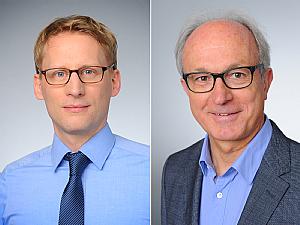 Prof. Dr. Florian Klein und Prof. Dr. Gerd Fätkenheuer, Foto: Michael Wodak
