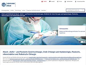 Der neue Webauftritt der Mund-, Kiefer- und Gesichtschirurgie, Foto: Uniklinik Köln