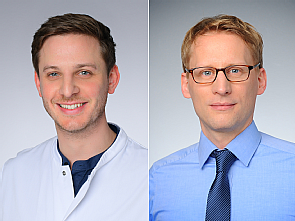 Felix Dewald und Prof. Dr. Florian Klein (v.l.), Fotos: Michael Wodak