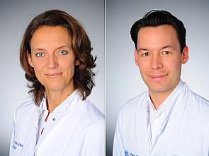 Prof. Dr. Christiane Bruns und Priv.-Doz. Dr. Alexander Shimabukuro-Vornhagen, Fotos: Michael Wodak