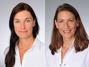 Prof. Dr. Nicole Skoetz und Prof. Dr. Elke Kalbe, Fotos: Michael Wodak/Klaus Schmidt