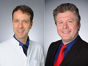 Univ.-Prof. Dr. Jörg Dötsch und Univ.-Prof. Dr. Stephan Bender (v.l.), Foto: Michael Wodak