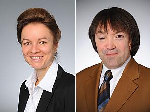 Univ.-Prof. Stephanie Stock und Dr. Marcus Redaèlli (v.l.), Foto: Michael Wodak