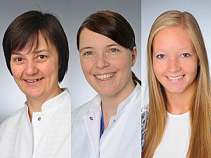 Priv.-Doz. Dr. Angela Kribs, Priv.-Doz. Dr. Katrin Mehler, Sina Radmacher, Foto: Michael Wodak