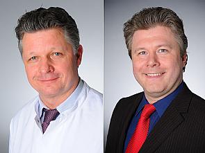 Univ.-Prof. Dr. Frank Jessen und Univ.-Prof. Dr. Stephan Bender, Foto: Klaus Schmidt/ Michael Wodak