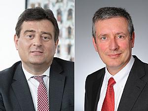 Staatssekretär Mathias Richter und Univ.-Prof. Dr. Edgar Schömig, Foto: MSB Susanne Klömpges / Michael Wodak