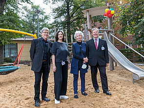 Johannes Krane-Erdmann, Ellen Westphal, Hedwig Neven DuMont und Prof. Dr. Stephan Bender (v.l.), Foto: Thies Schöning