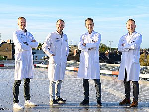 Dr. Stephan Uschok, Priv.-Doz. Dr. Michael Hackl, Prof. Dr. Lars Peter Müller und Prof. Dr. Kilian Wegmann (v.l), Foto: Michael Wodak