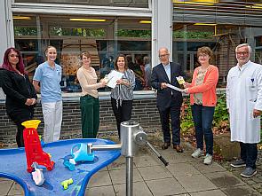 Susanne Büch (TuS Rondorf), Verena Hammes (UniReha), Dr. Miriam Jackels (UniReha), Christiane Güntert (Sportjugend Köln), Ullrich Baum (Reha-Kids-Köln), Barbara Treunert (Stadt Köln) und Prof. Dr. Eckhard Schönau (UniReha) (v.l.), Foto: Christian Wi